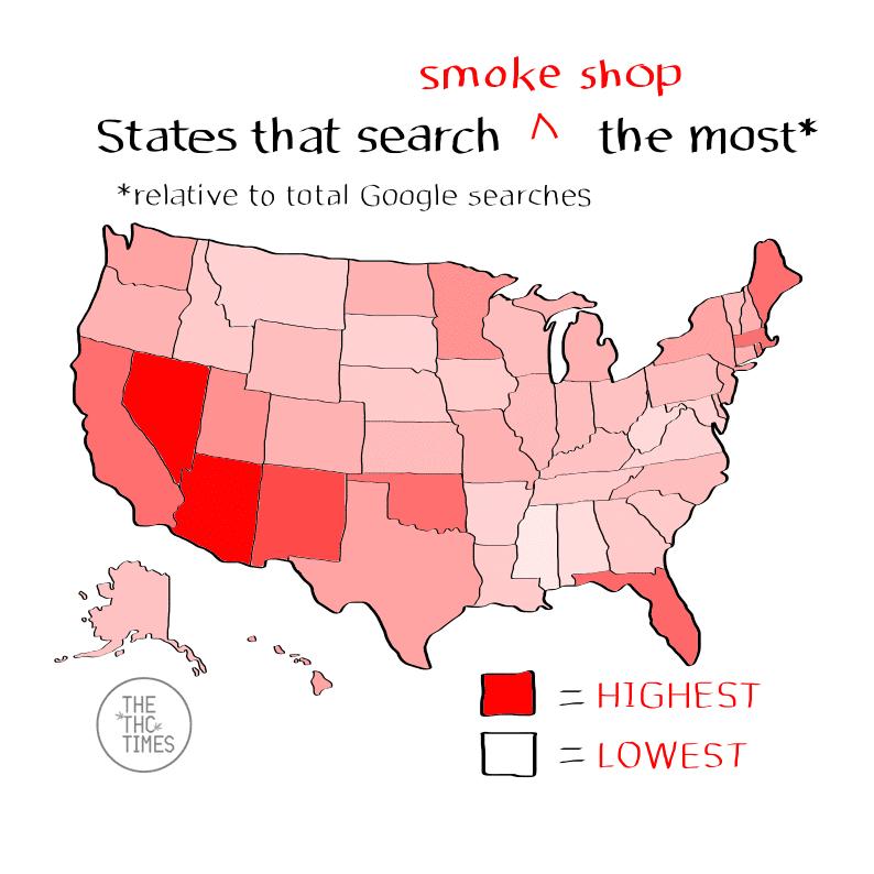 smoke shop - Google Trends
